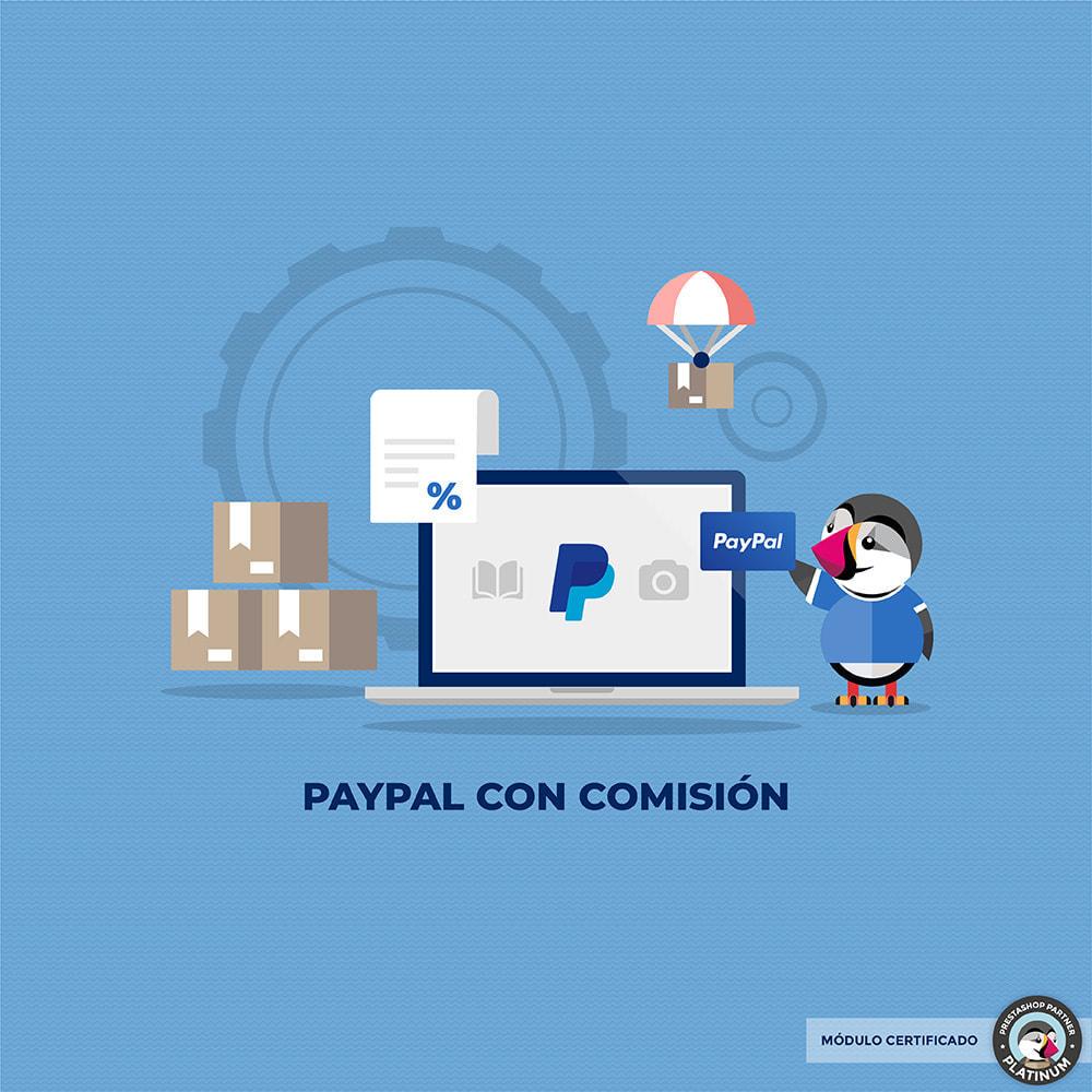 module - Pago con Tarjeta o Carteras digitales - Paypal con recargo - 1