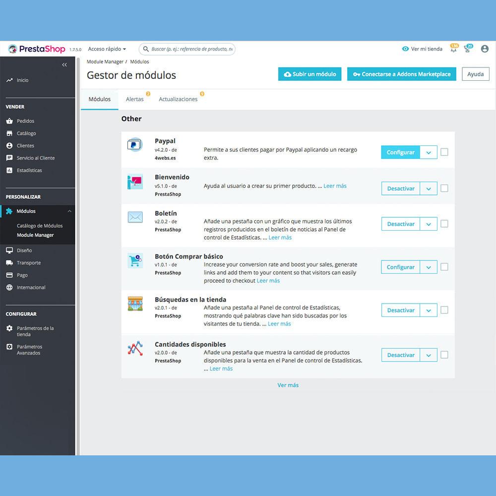 module - Pago con Tarjeta o Carteras digitales - Paypal con recargo - 2