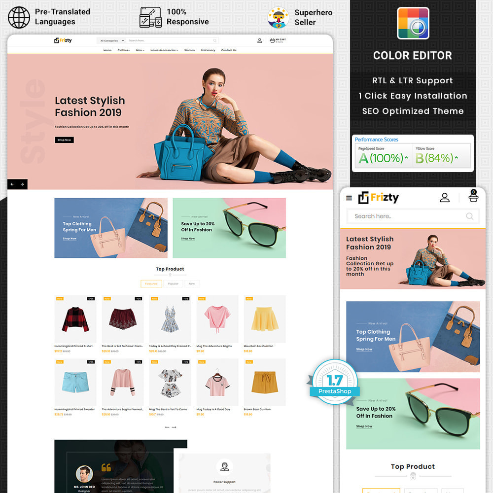 theme - Мода и обувь - Frizty -  The Best Fashion Store - 1