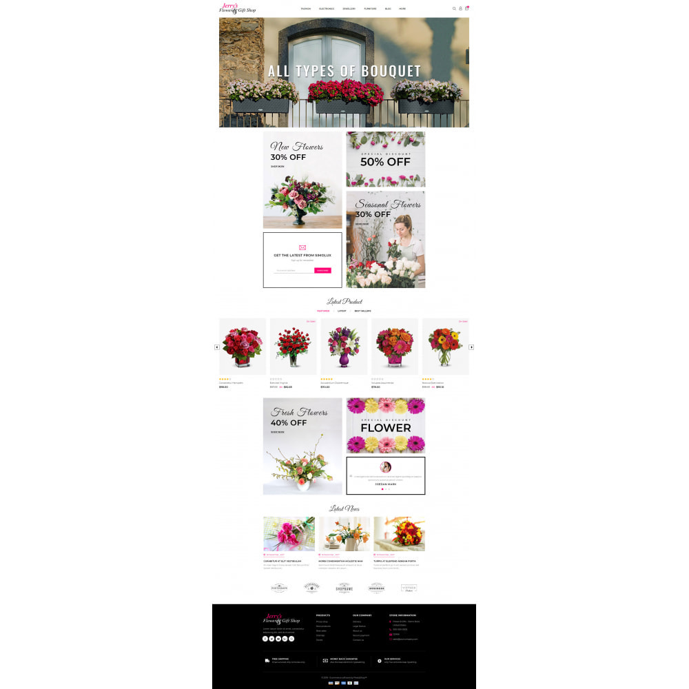 theme - Gifts, Flowers & Celebrations - Flower and Gift Shop - 2