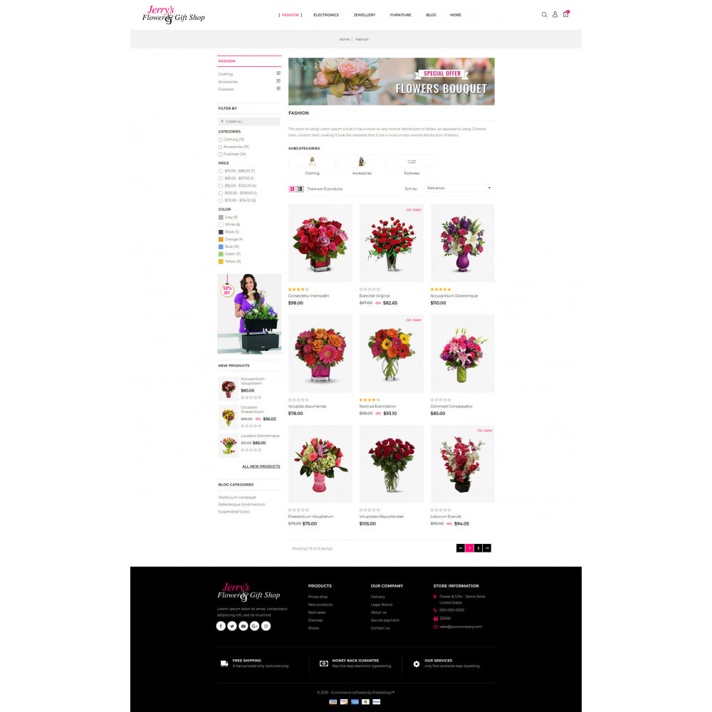 theme - Gifts, Flowers & Celebrations - Flower and Gift Shop - 3