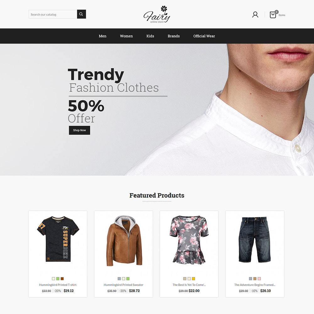 theme - Mode & Chaussures - Fairy Cloth  - Fashion Accessories Store - 1
