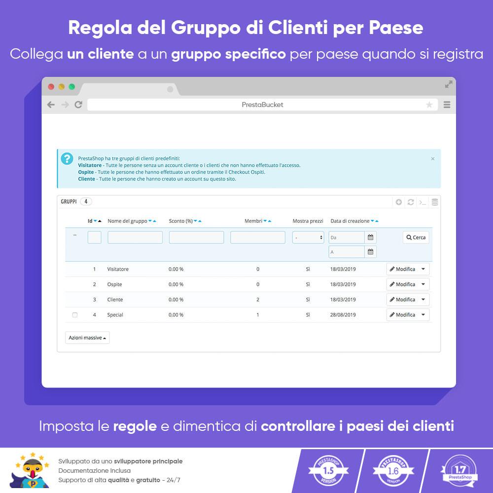 module - Gestione clienti - Regola del Gruppo di Clienti per Paese - 1