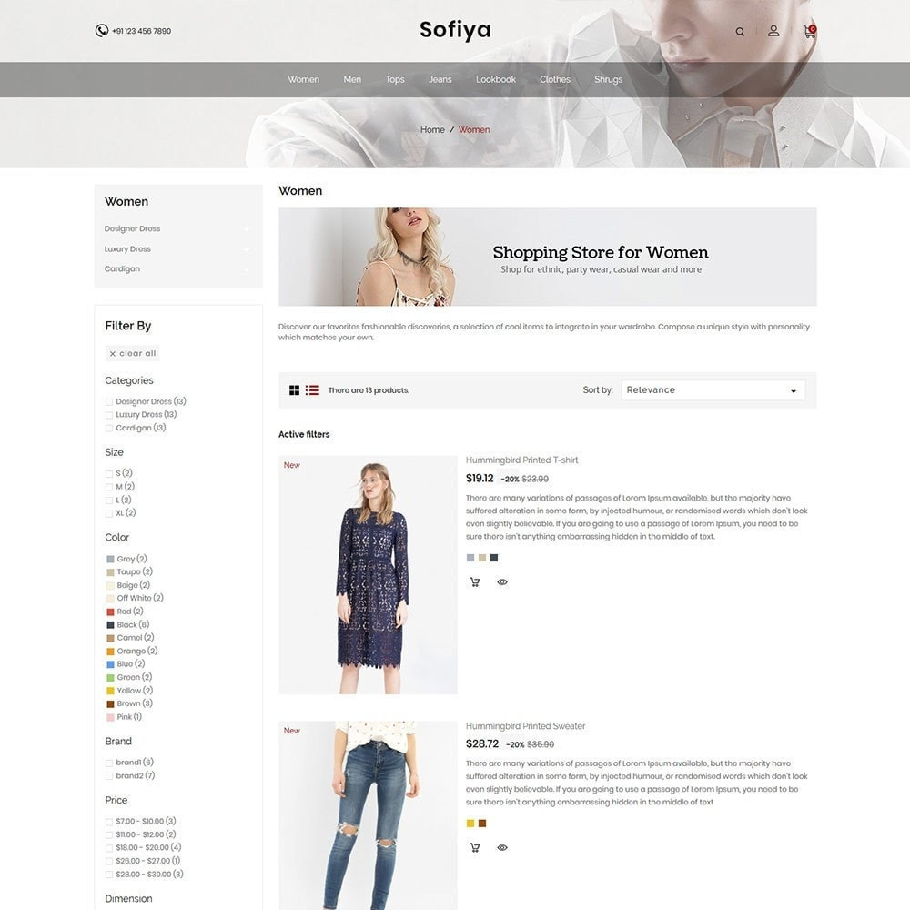 theme - Mode & Schoenen - Sofiya Fashion  -Designer Cloth  Store - 5