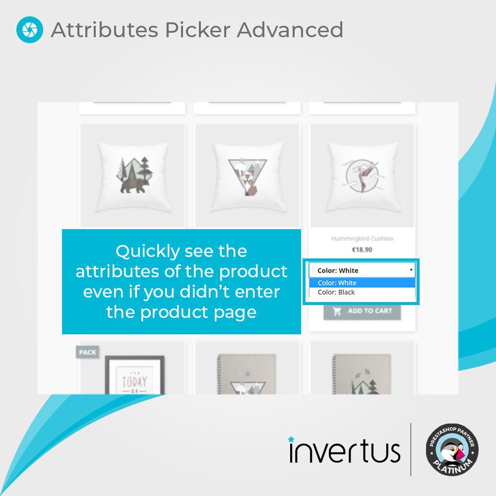 module - Combinaciones y Personalización de productos - Selector de atributos avanzado: para producto - 3