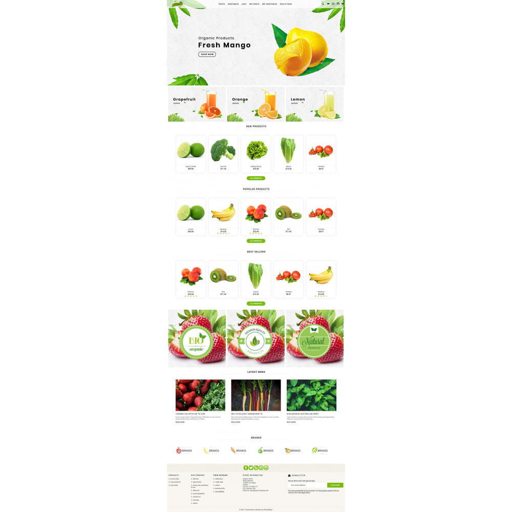 theme - Eten & Restaurant - Natural Organic - 2