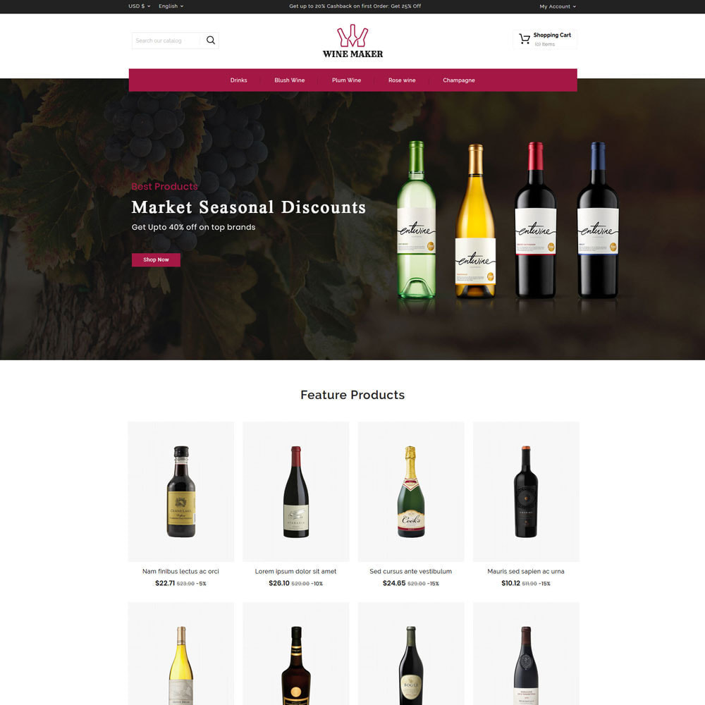 theme - Drink & Tobacco - Wine maker Shop - 2