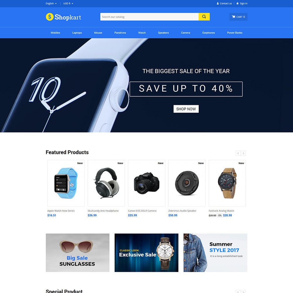 theme - Elektronica & High Tech - Shopkart Electronics - Digitale mobiele winkel - 3