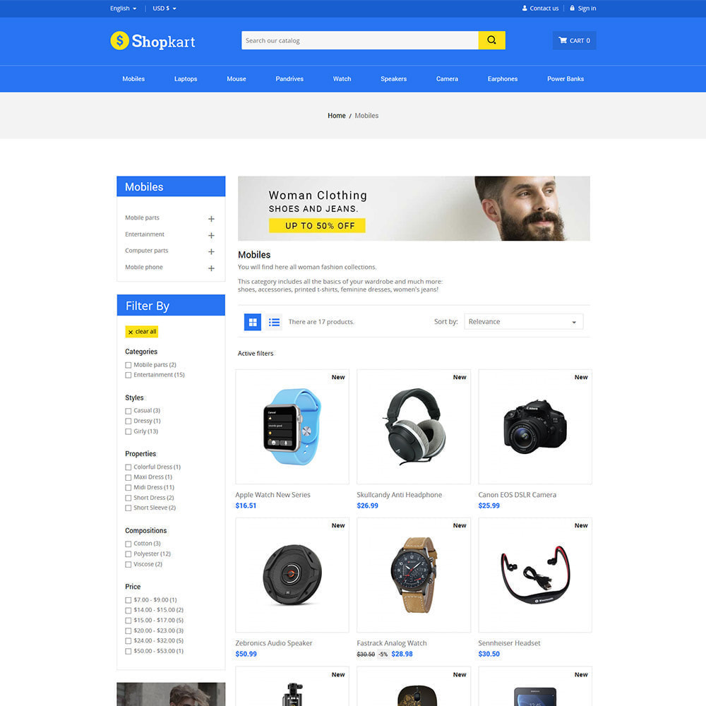 theme - Elektronica & High Tech - Shopkart Electronics - Digitale mobiele winkel - 4