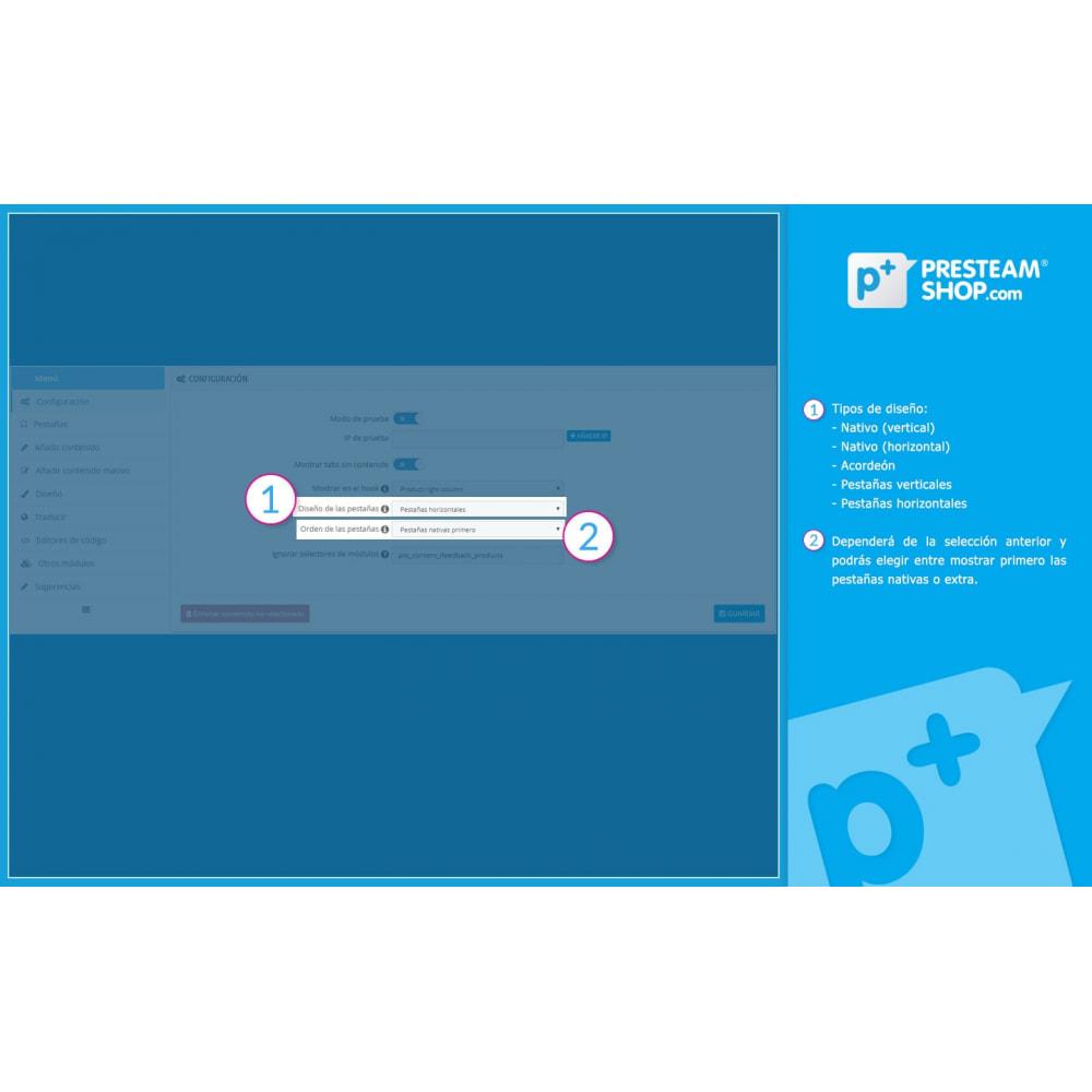 module - Informaciones adicionales y Pestañas - Product Extra Tabs - Pestañas informativas adicionales - 7