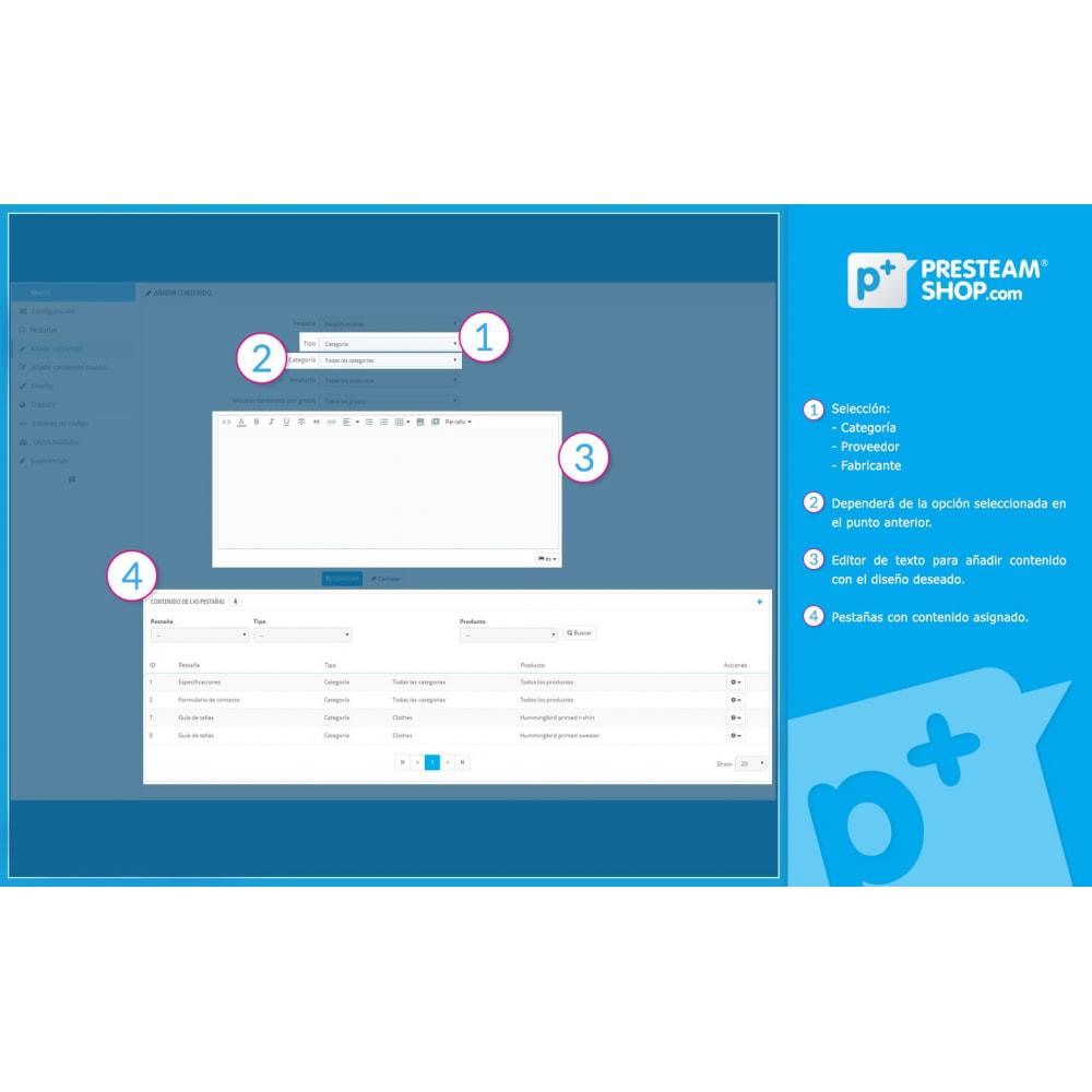 module - Informaciones adicionales y Pestañas - Product Extra Tabs - Pestañas informativas adicionales - 9