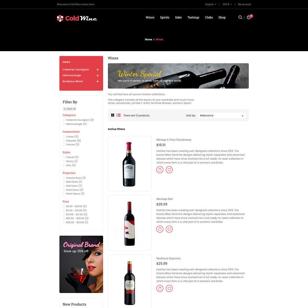 theme - Напитки и с сигареты - Cold Wine - Магазин алкогольных напитков - 5