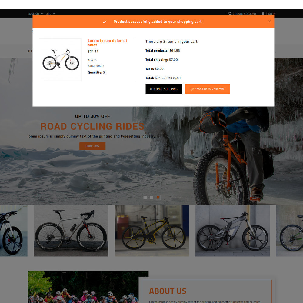 theme - Samochody - Cycling Bicycle store - 6