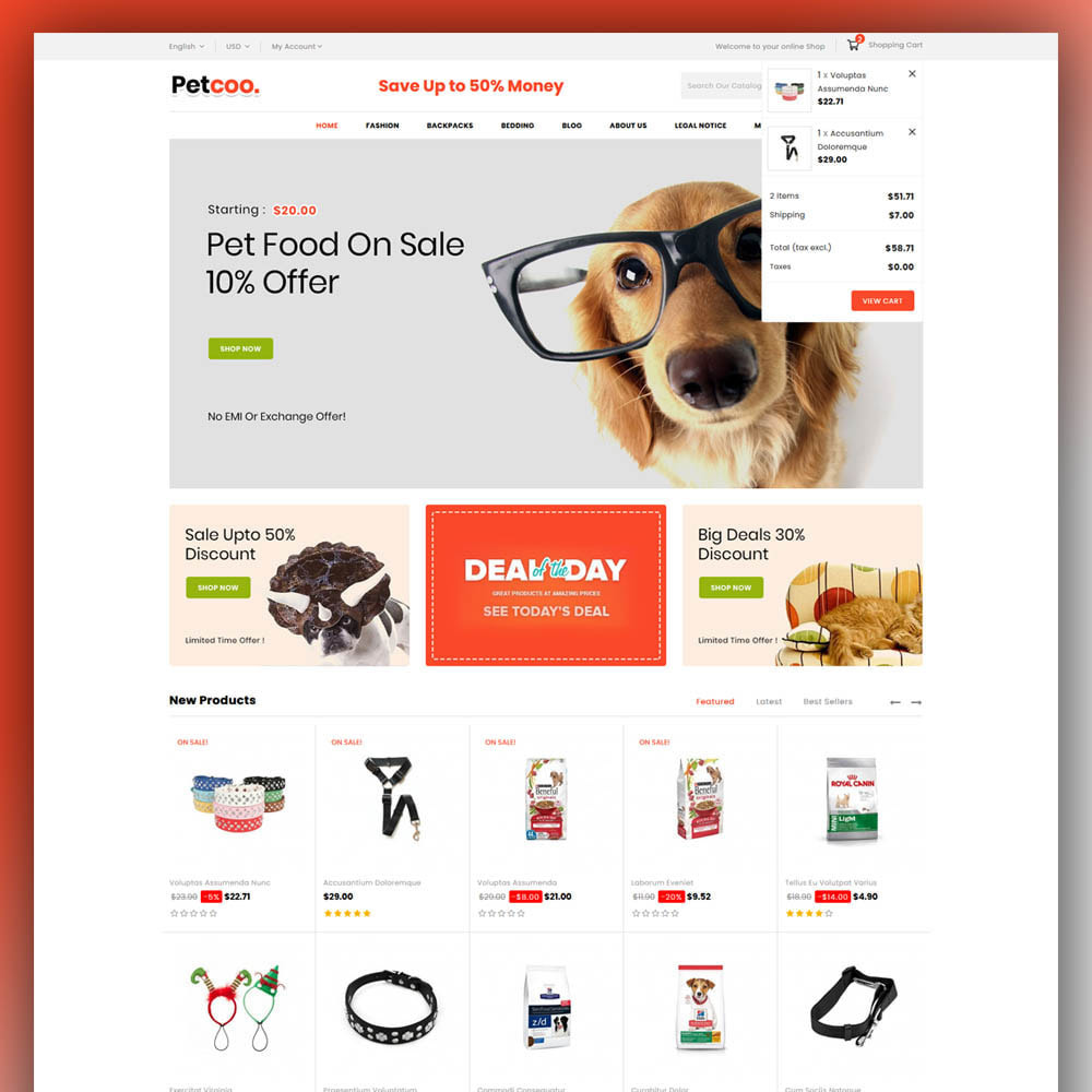 theme - Animaux - Petcoo - Pet Store - 3