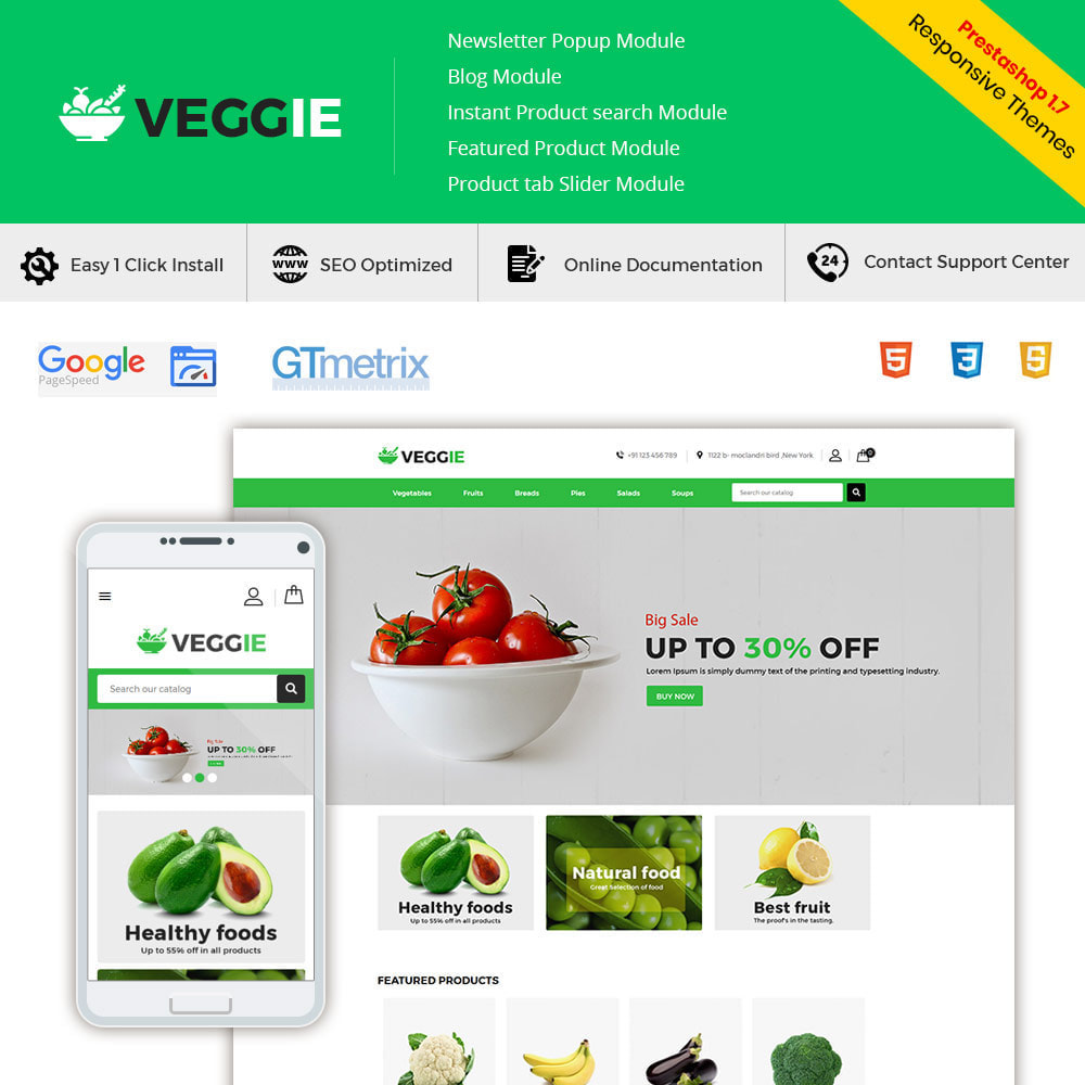 theme - Продовольствие и рестораны - Vegitables Food - Фруктовый магазин - 2