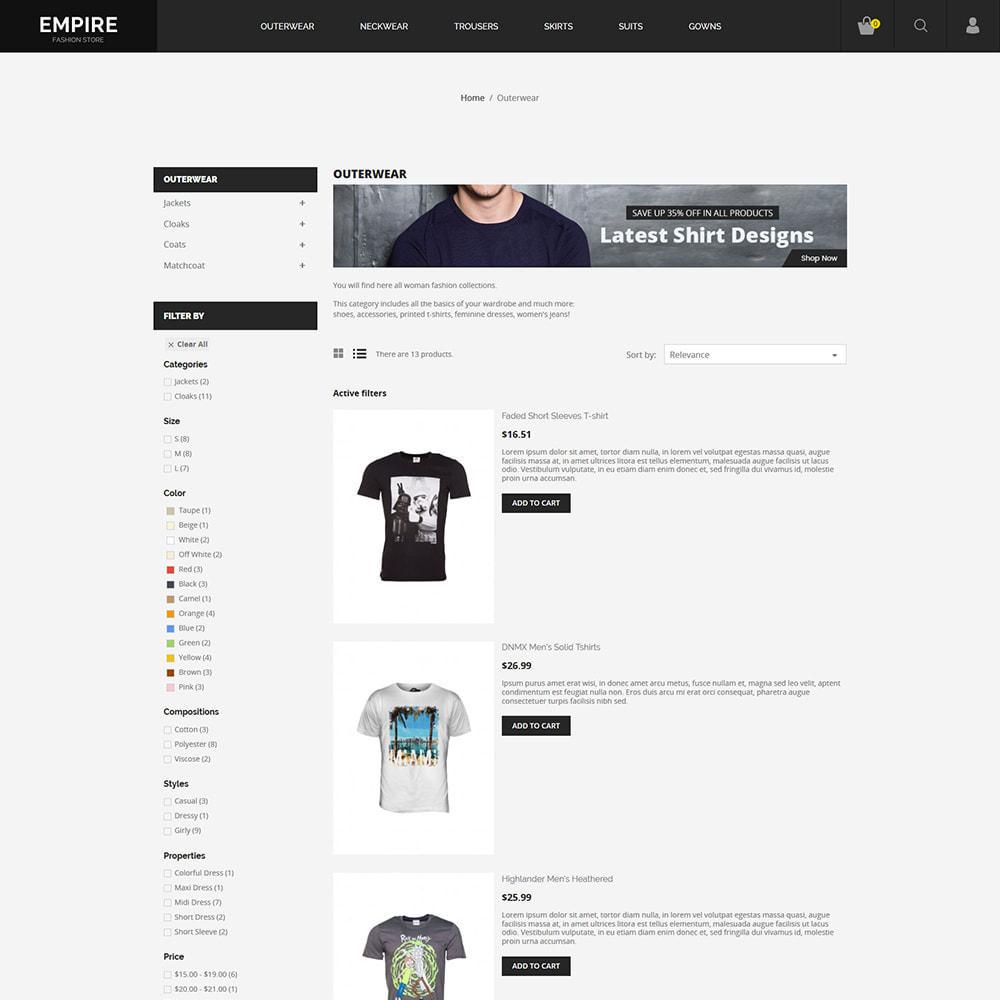 theme - Moda & Obuwie - Black Fashion - Dark Women tshirt Store - 4