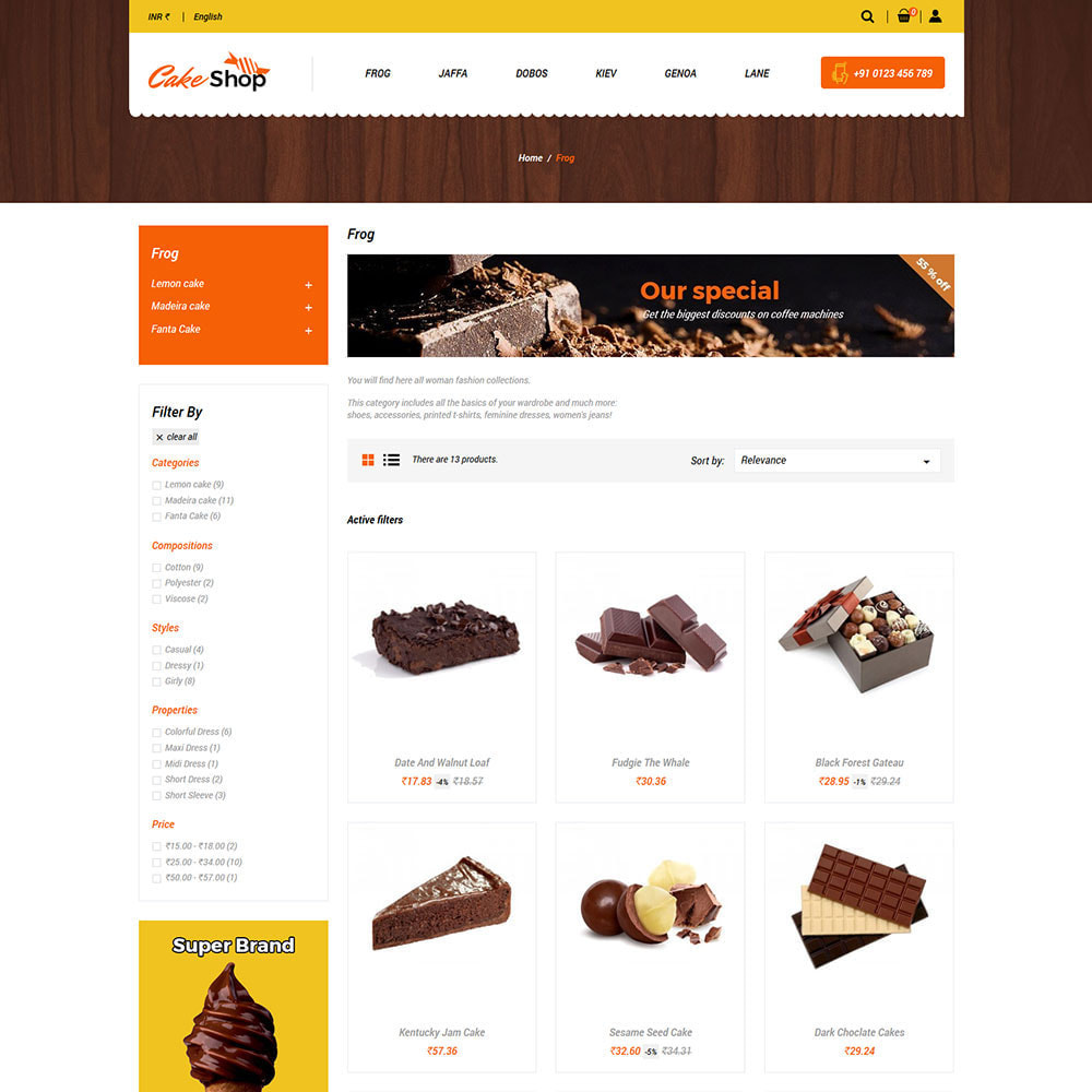 theme - Gastronomía y Restauración - Pastel De Alimentos - Panadería Tienda De Alimentos - 3