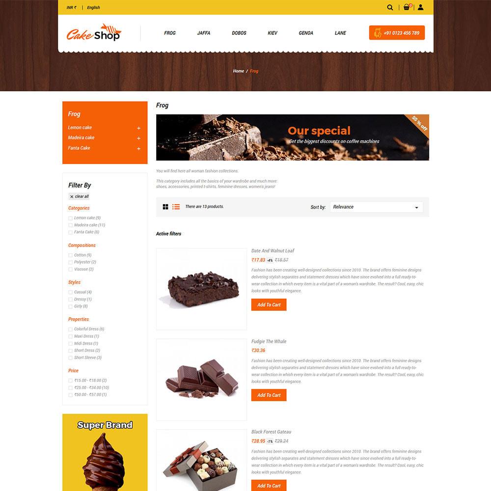 theme - Gastronomía y Restauración - Pastel De Alimentos - Panadería Tienda De Alimentos - 4