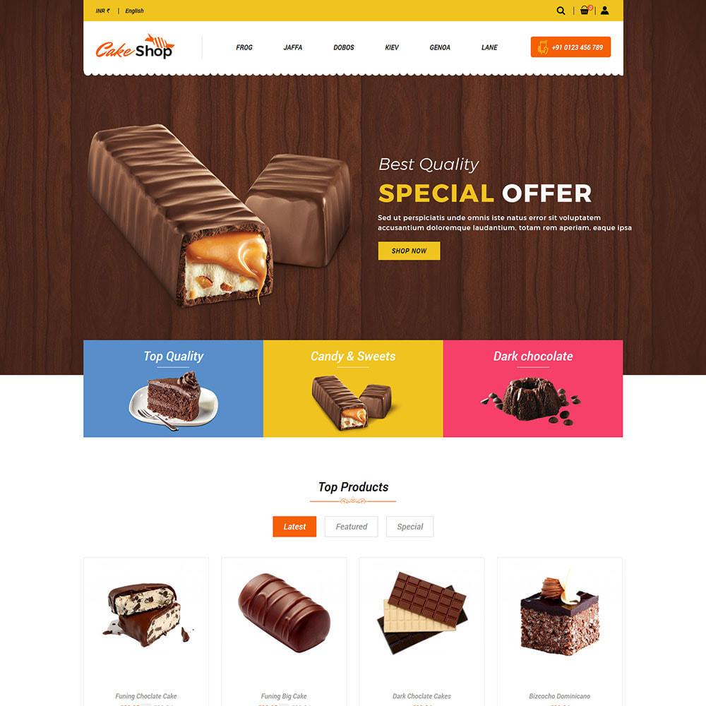 theme - Gastronomía y Restauración - Pastel De Alimentos - Panadería Tienda De Alimentos - 5