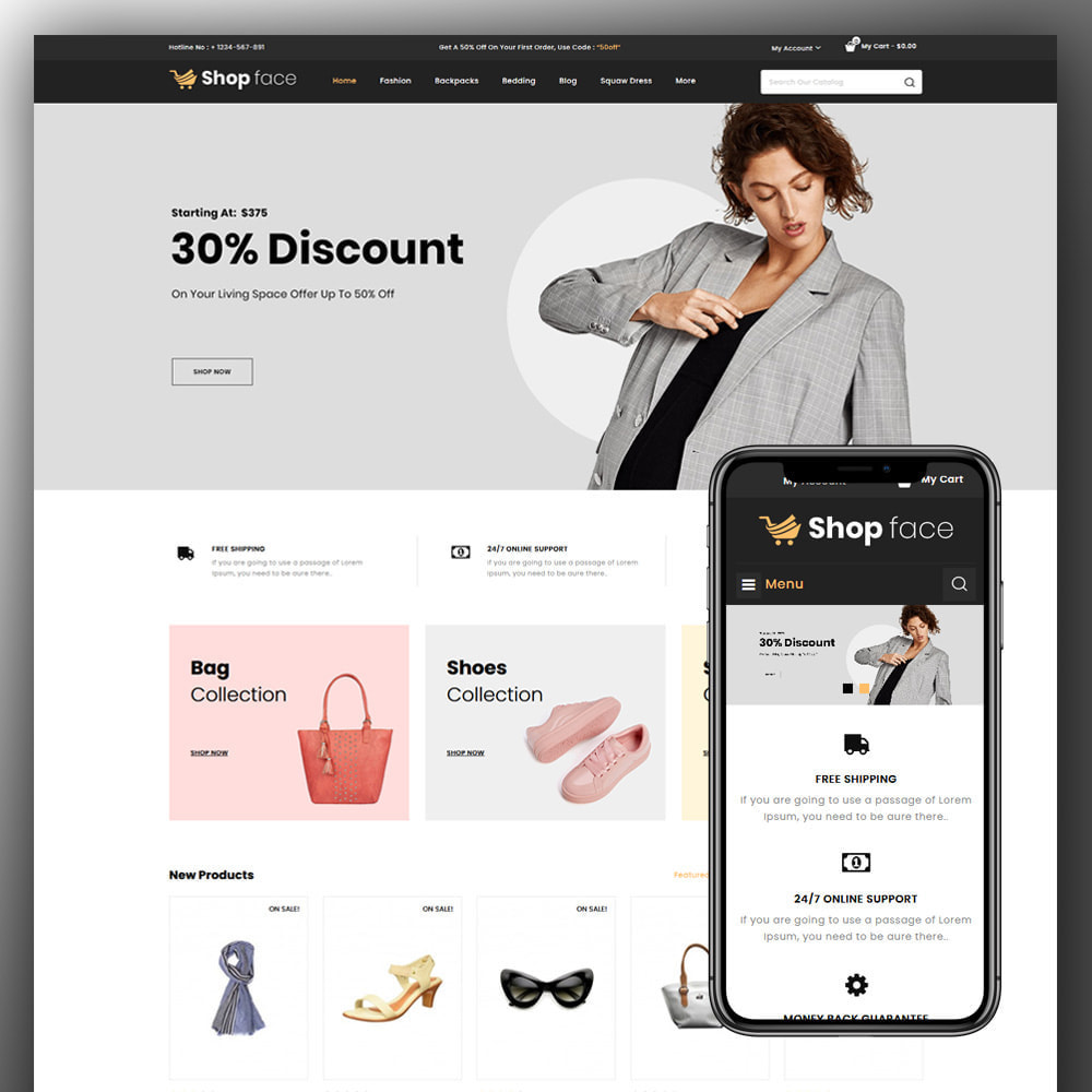 theme - Moda & Obuwie - Shopface - Fashion Store - 1