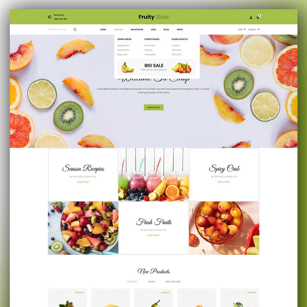 theme - Żywność & Restauracje - Fruity - Fruit Store - 2