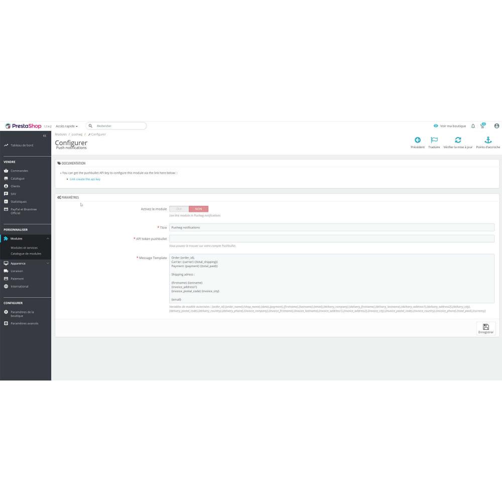 module - Gestion des Commandes - Pushwg notification - 1