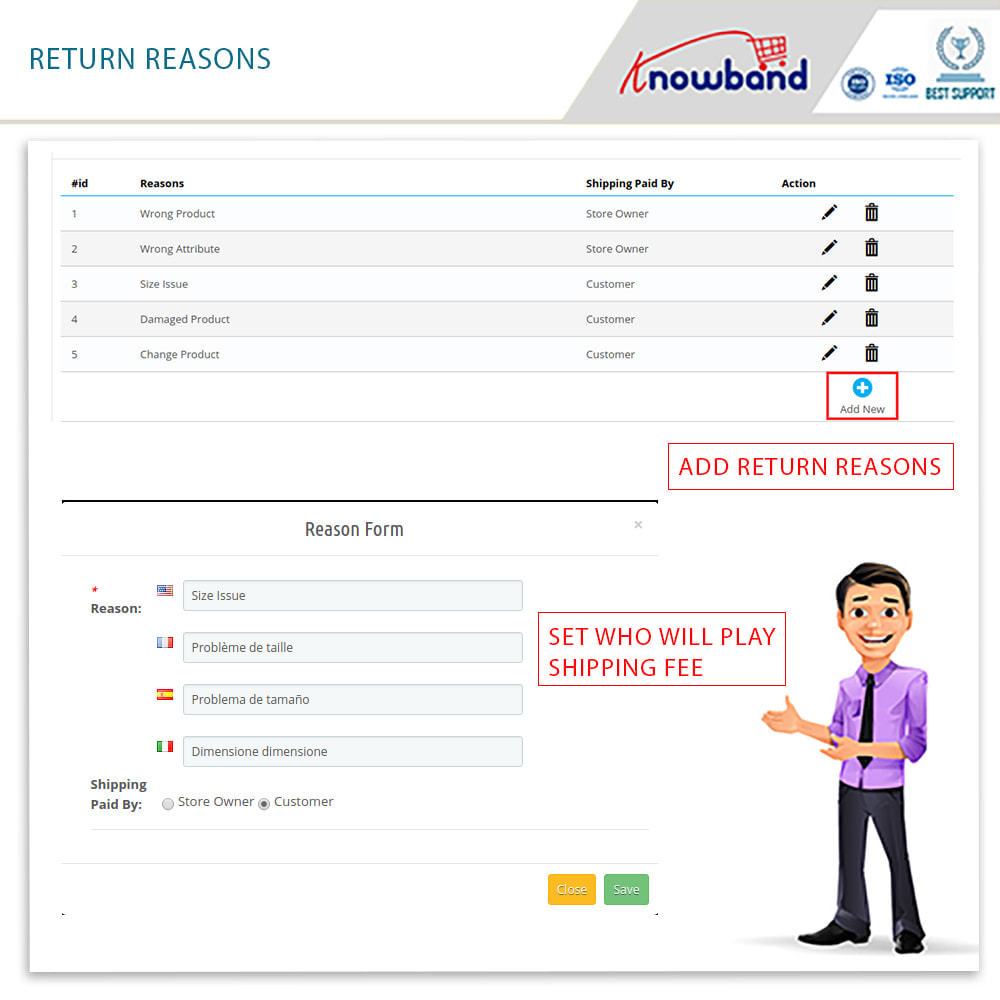 module - Customer Service - Knowband - Order Return Manager(Return Slip & Barcode) - 13