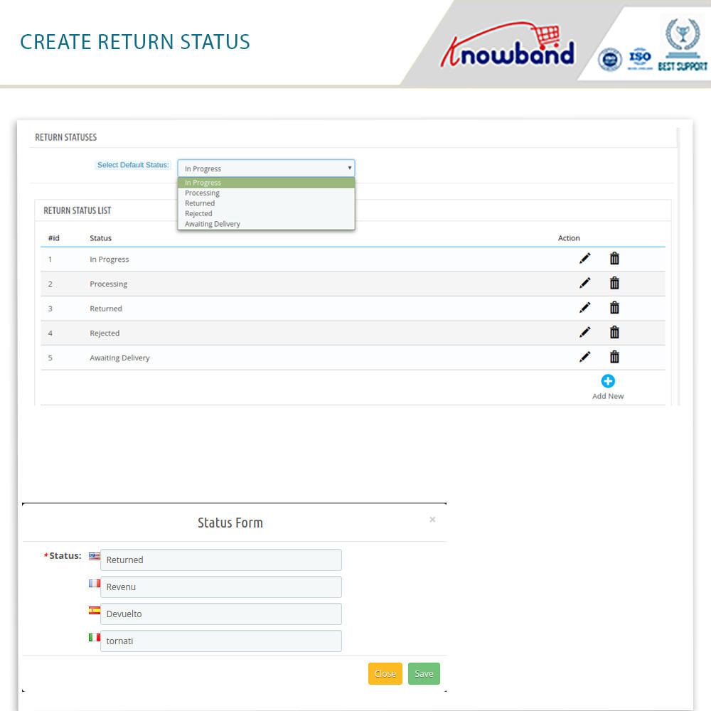 module - Customer Service - Knowband - Order Return Manager(Return Slip & Barcode) - 14