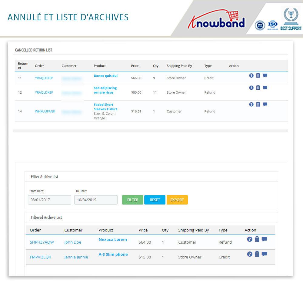 module - Service Client - Knowband - Gestionnaire de Retour des Commandes - 19