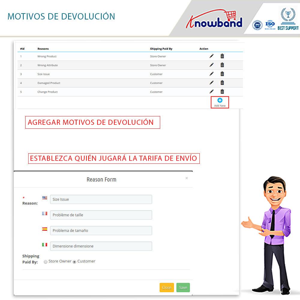 module - Servicio posventa - Knowband - Gestor de Devolución de Pedidos - 13
