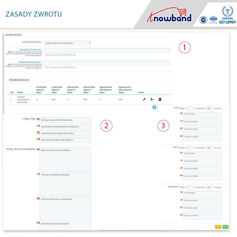 module - Serwis posprzedażowy - Knowband - Order Return Manager(Return Slip & Barcode) - 11