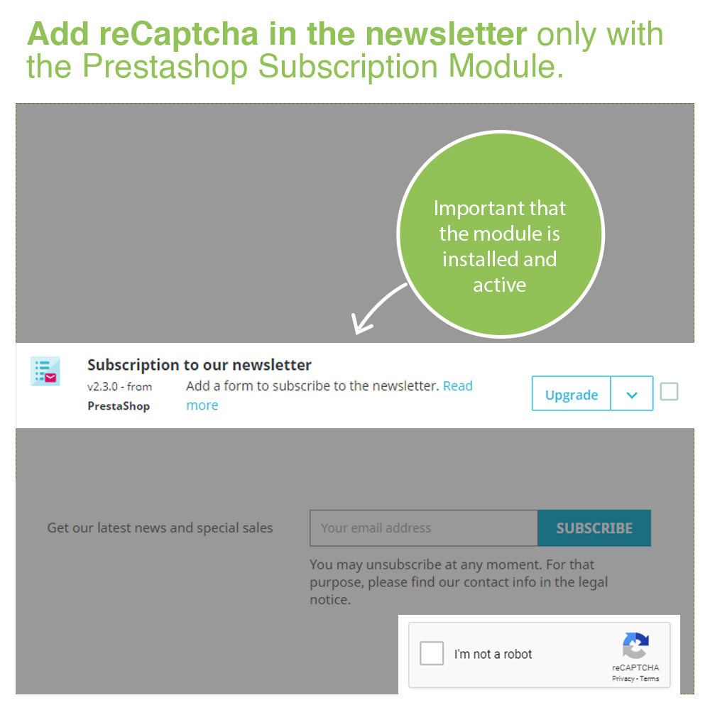 module - Security & Access - Captcha - reCaptcha - Anti Spam Protection - 6