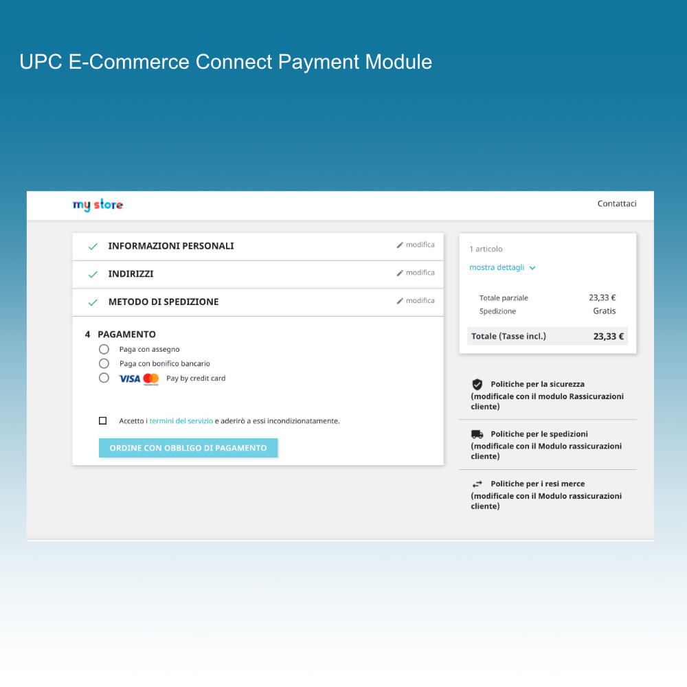 module - Creditcardbetaling of Walletbetaling - UPC eCommerce Connect Payment - 4