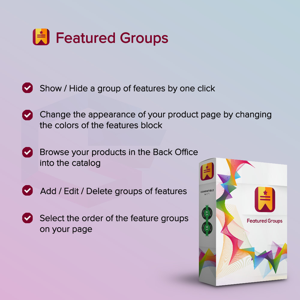 module - Customer Administration - Featured Groups PRO - 1