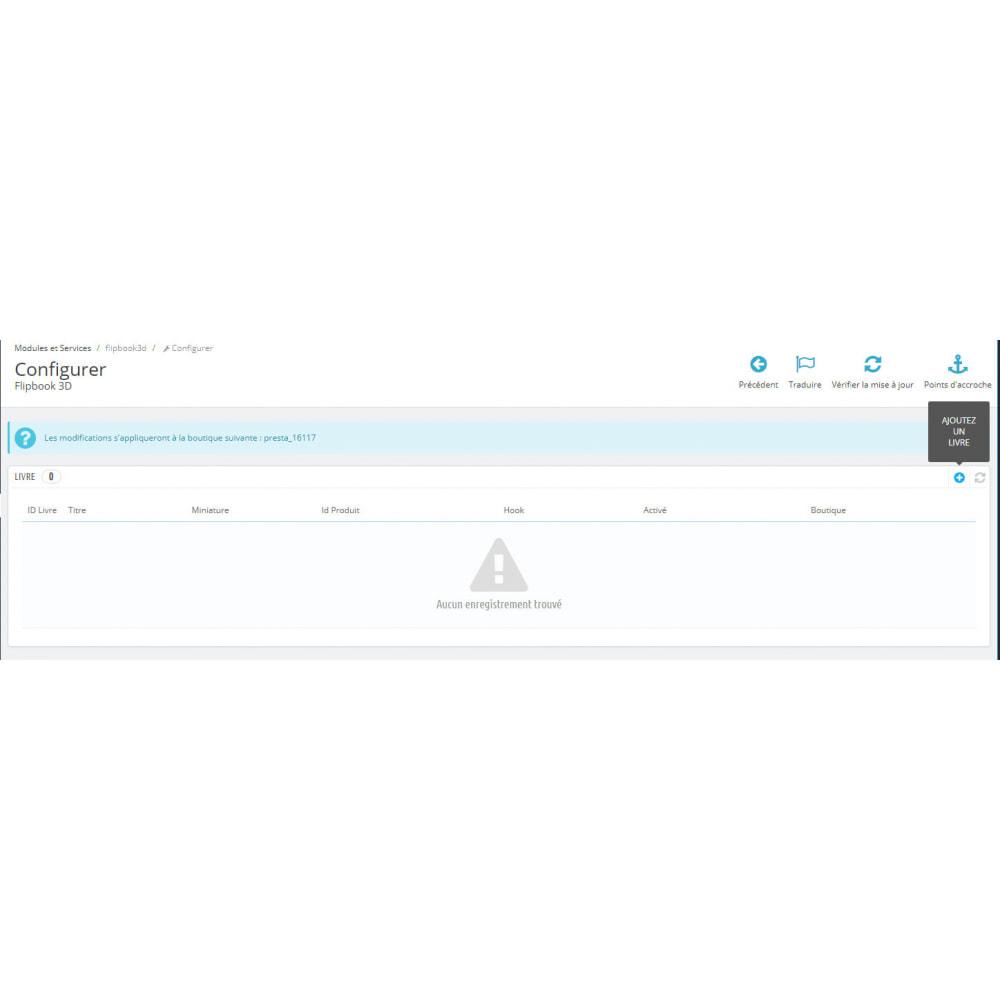 module - Visuels des produits - Flipbook 3D - 3