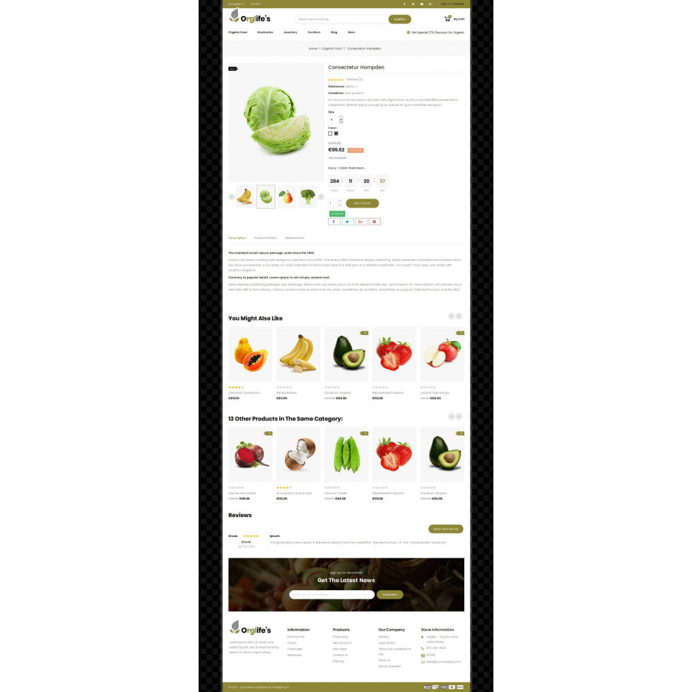 theme - Eten & Restaurant - Orglifes - Organic Store - 4