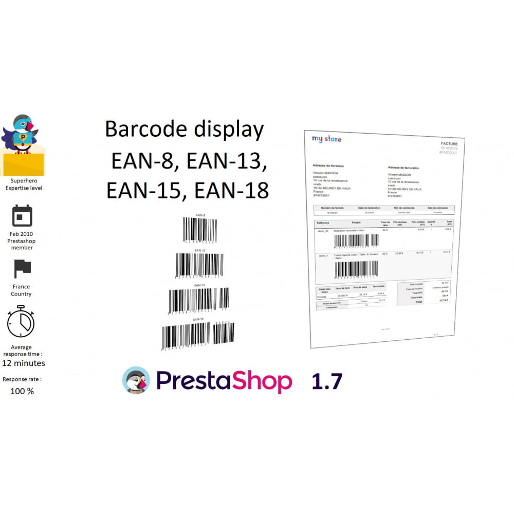 module - Kommissionierung & Versand - Barcode EAN 8, 13, 15, 18 and stocks - 1
