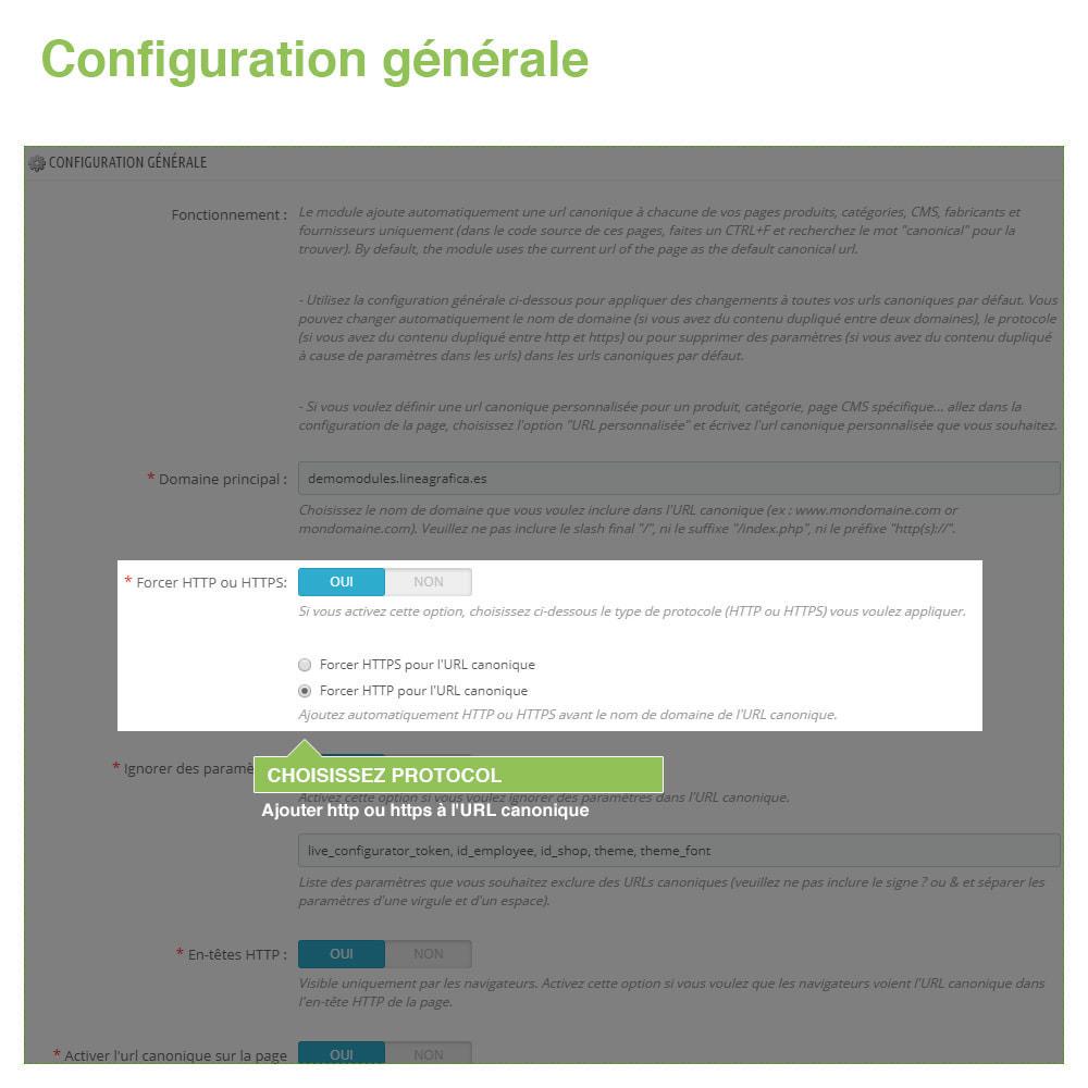module - URL & Redirections - URL canoniques pour éviter les doublons - SEO - 3