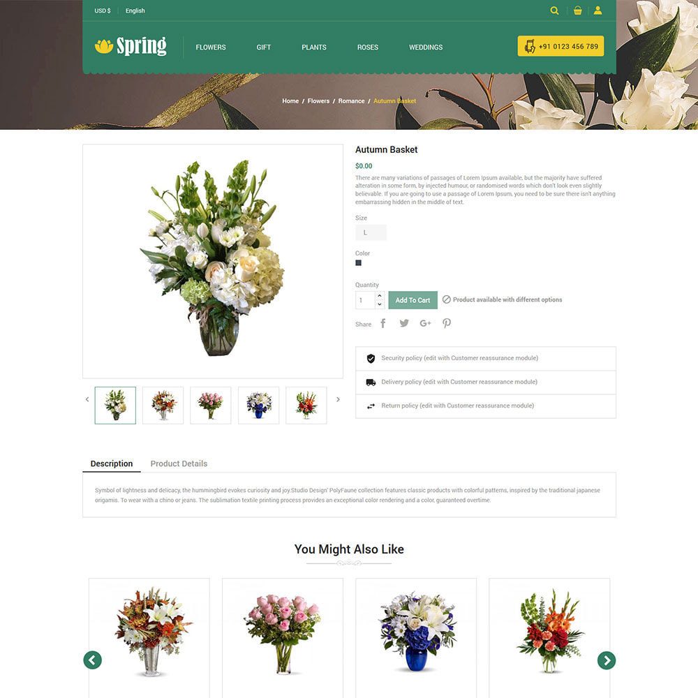theme - Prezenty, Kwiaty & Uroczystości - Spring Flower - Valentine Gift Store - 7