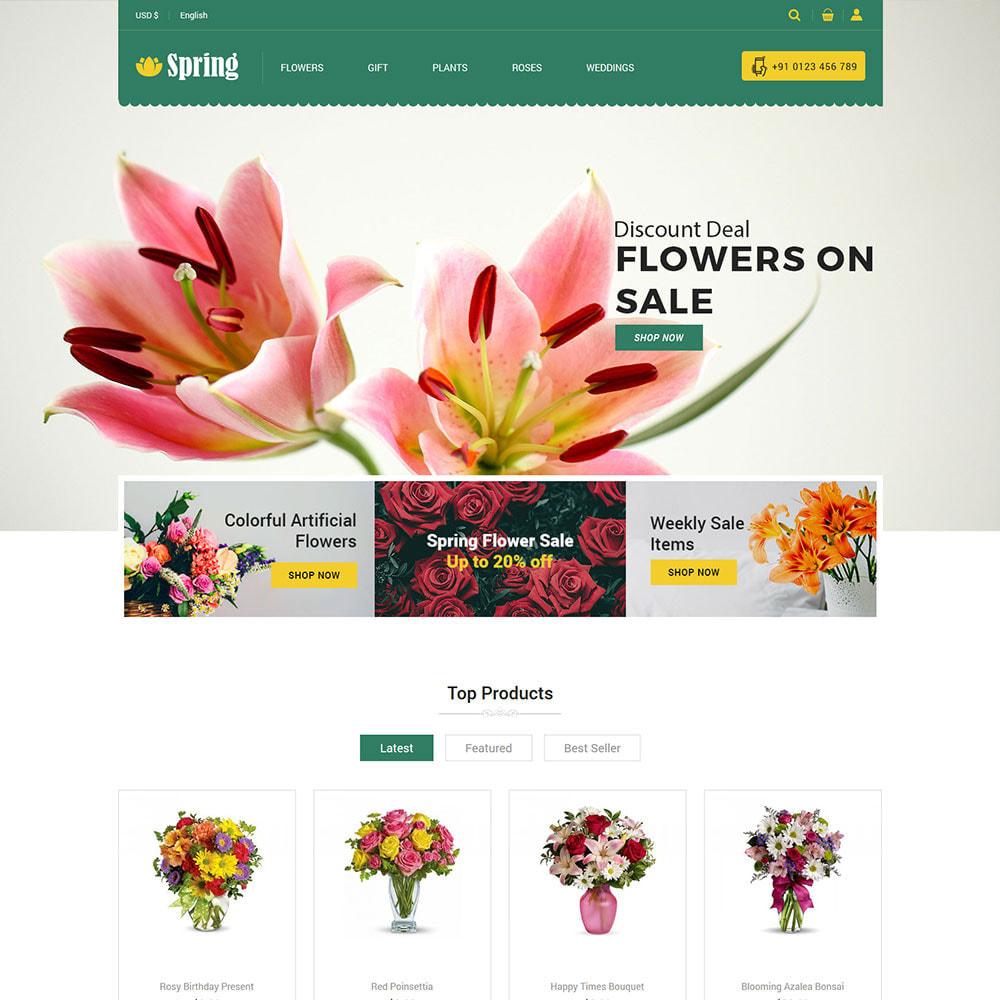 theme - Подарки, Цветы и праздничные товары - Весенний цветок - магазин подарков на День - 4