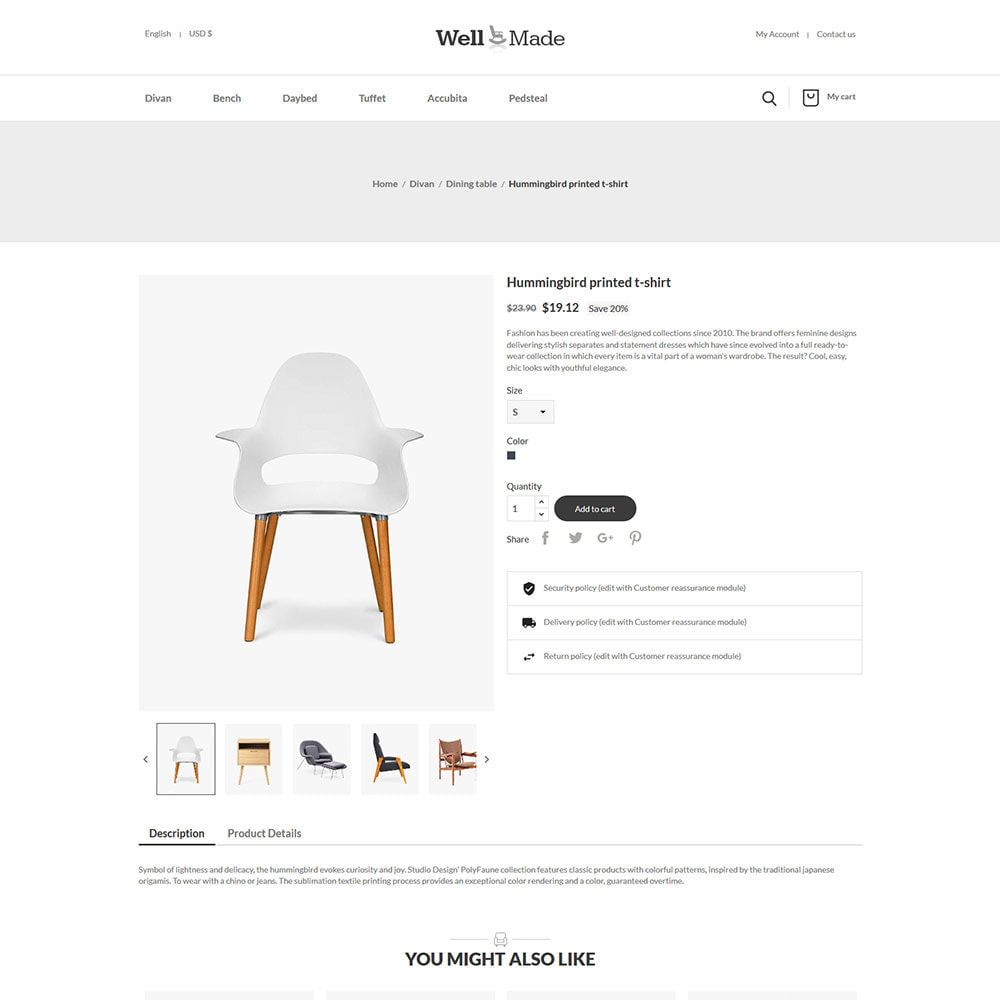 theme - Casa & Jardins - Móveis de interior - loja de decoração de cadeiras - 6