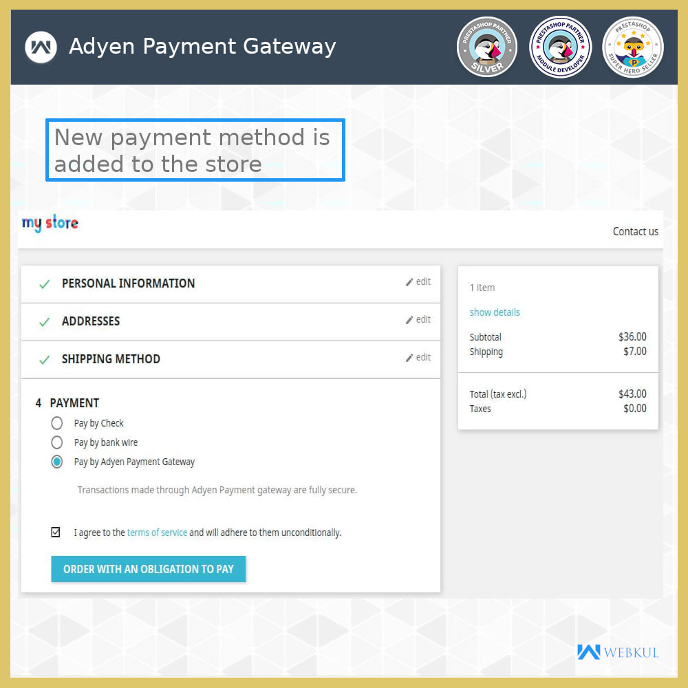 module - Other Payment Methods - Adyen Payment Gateway - 3