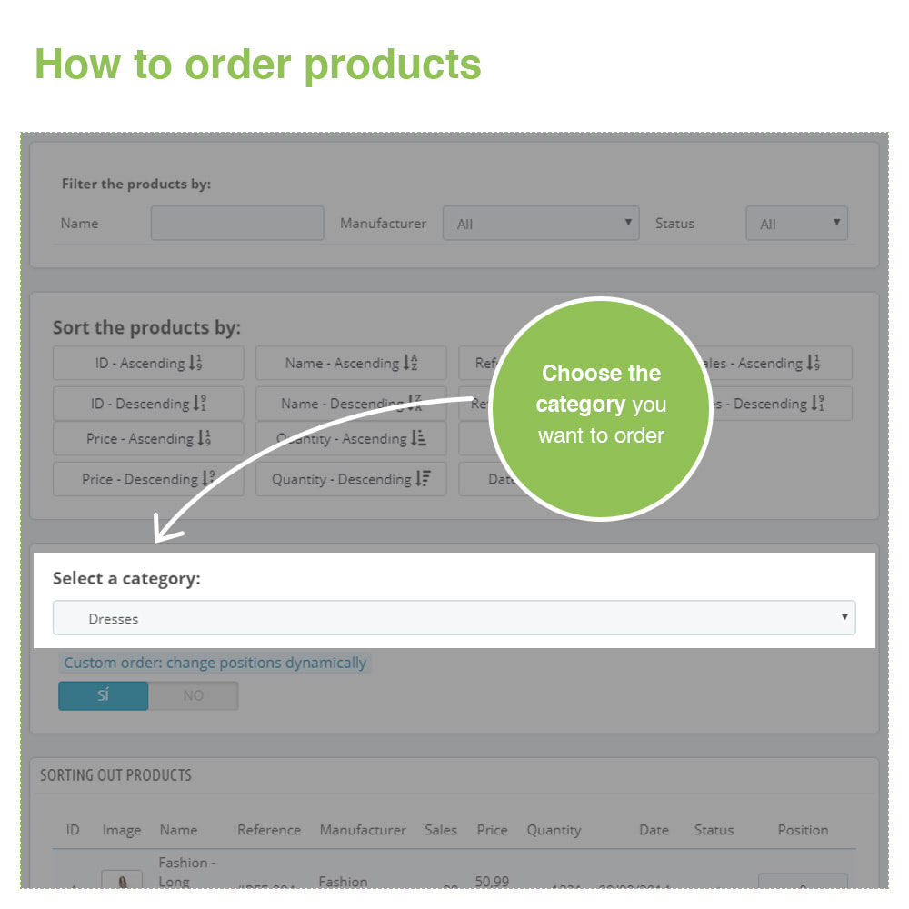 module - Fast & Mass Update - Sorting Out Products by Category - Display Order - 3