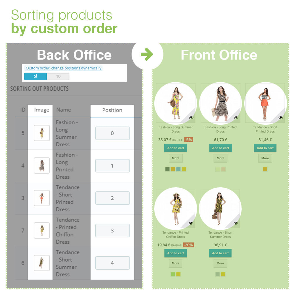 module - Snelle & seriematige bewerking - Sorting Out Products by Category - Display Order - 22