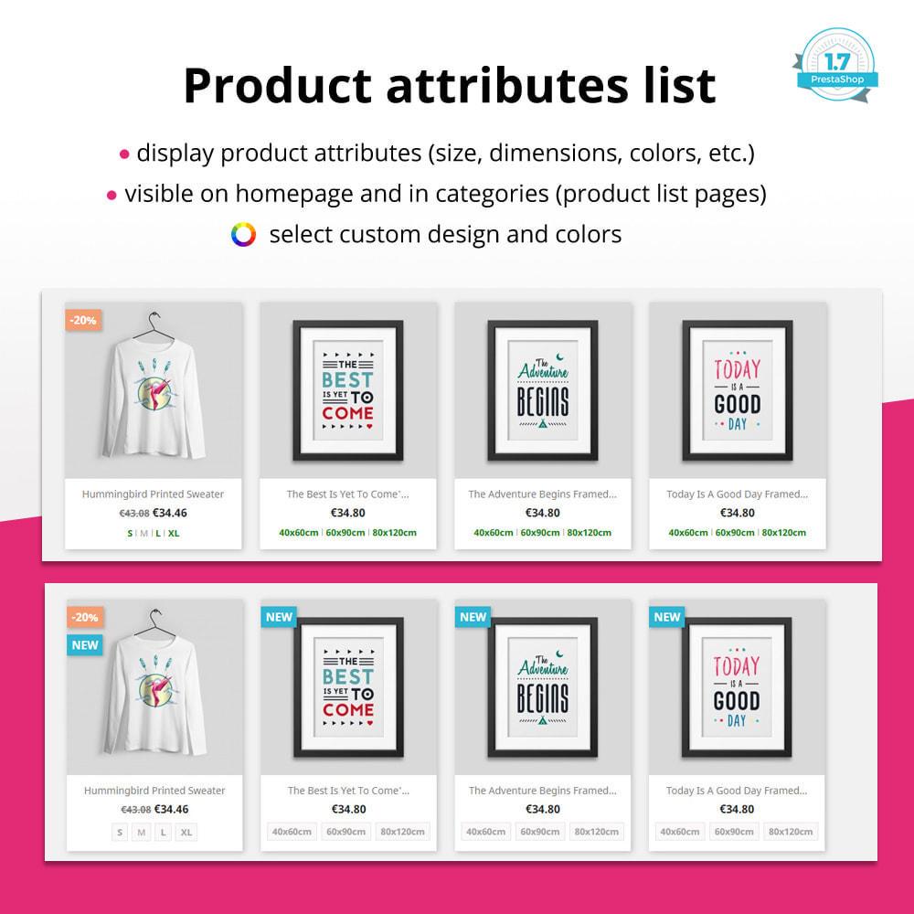 module - Combinazioni & Personalizzazione Prodotti - Product attributes / combinations in category - 1