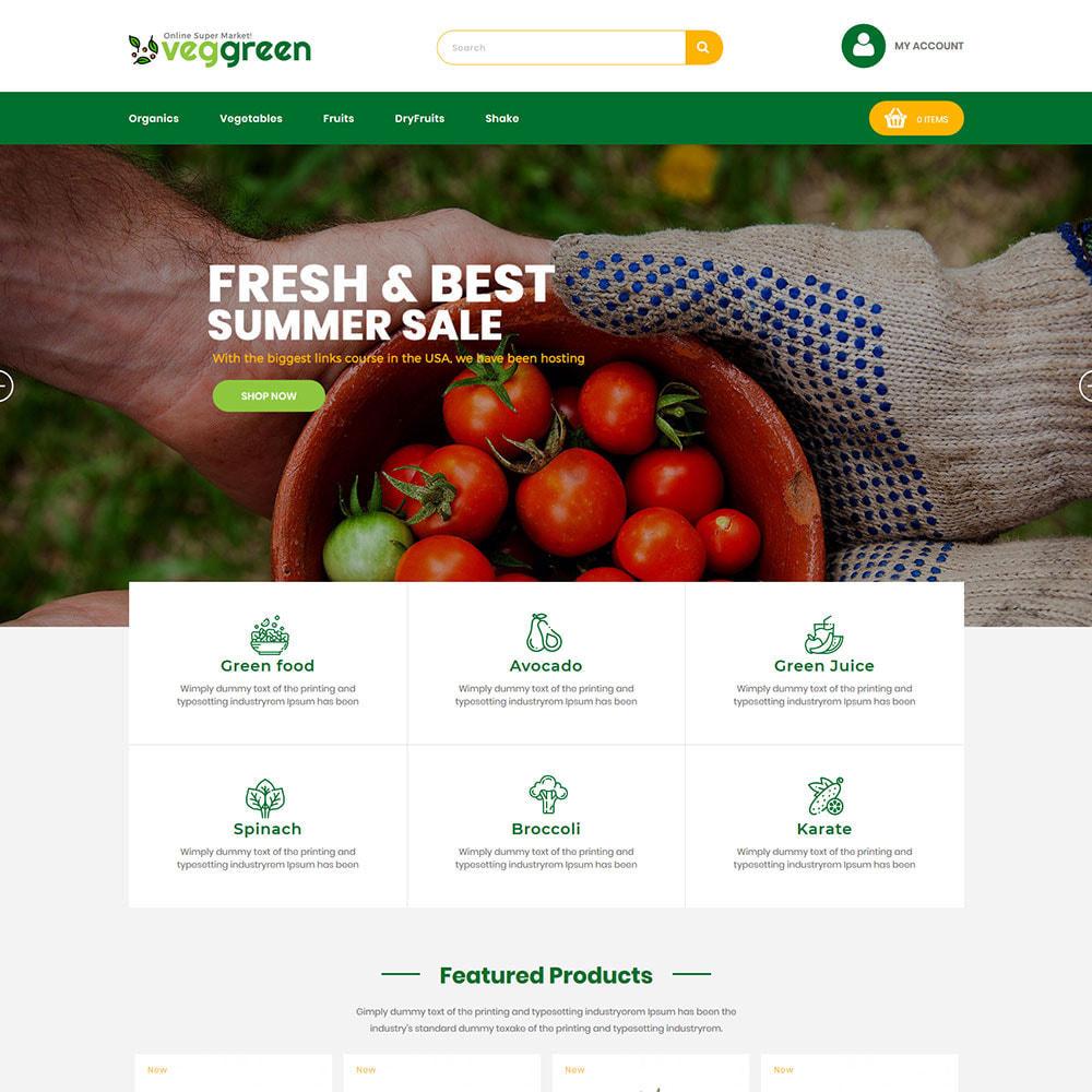 theme - Alimentation & Restauration - Veg Green - Magasin alimentaire Vegitable Fresh - 3