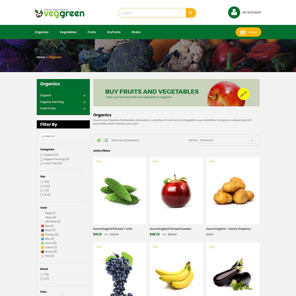theme - Alimentation & Restauration - Veg Green - Magasin alimentaire Vegitable Fresh - 4