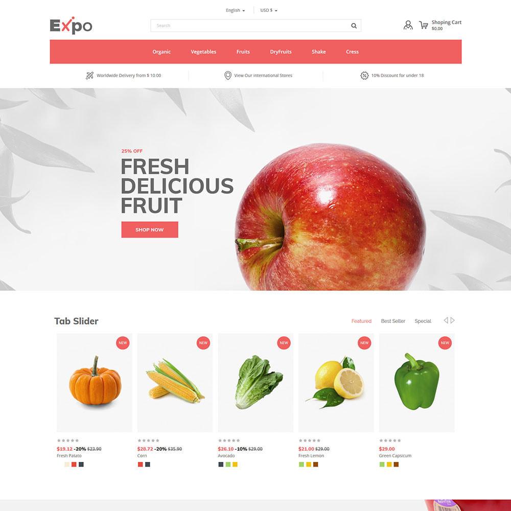 theme - Alimentation & Restauration - Restaurant - Magasin de légumes bio - 3