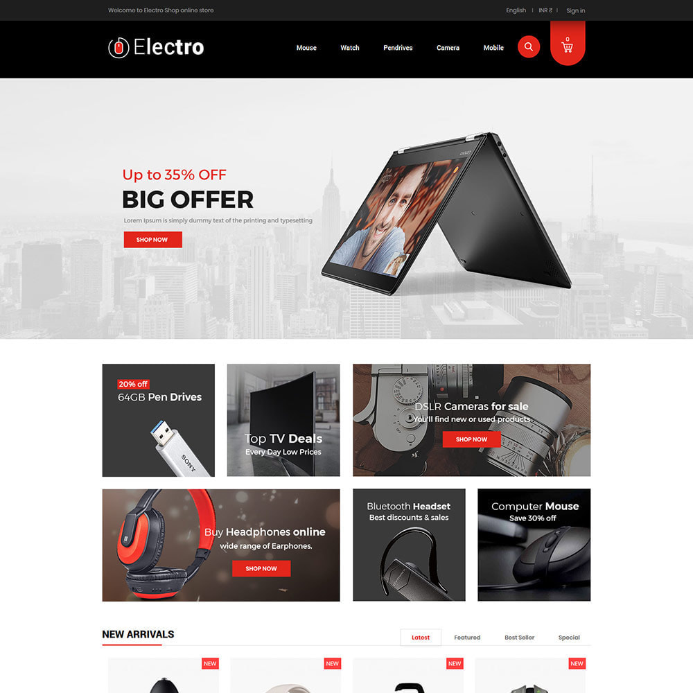 theme - Elettronica & High Tech - Electronics Mobile Digital - Negozio di computer - 3