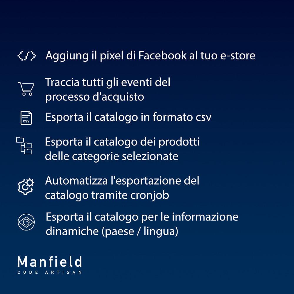 module - Prodotti sui Facebook & Social Network - Facebook Pixel + Track E-commerce + Catalogo e Cron - 7